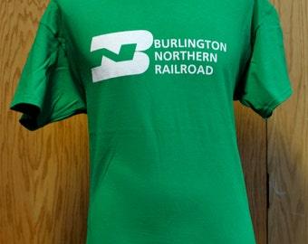 Burlington Northern Railroad Vintage BN Logo T Shirt - Fallen Flag Railroad Fan Shirt
