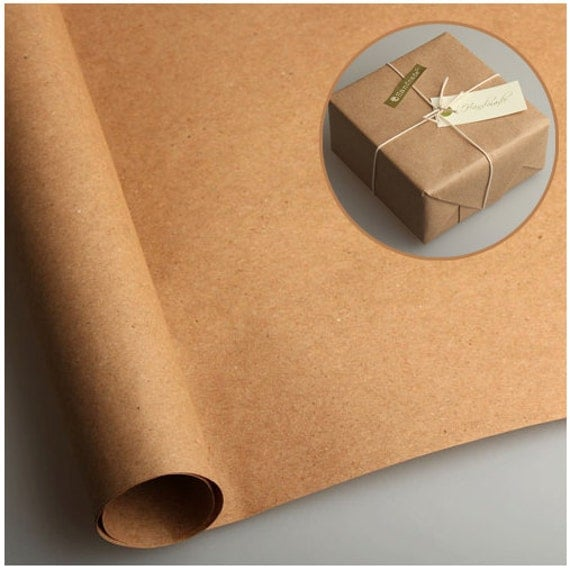 20 sheets Kraft wrapping paper for Gift Wrap and by ...