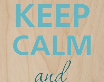 Keep Calm and Love Me Romantic Couple - Plywood Wood Print Poster Wall Art WP - DF - 0205
