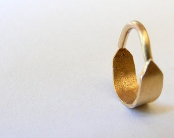 14k gold nose ring. gold septum, Indian nose ring, solid gold nose ring, small nose ring, solid gold septum, gold nose ring, boho nose ring
