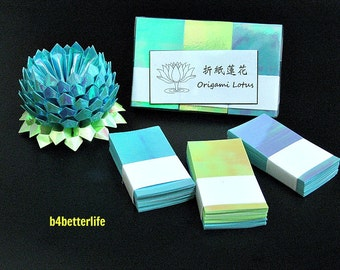 A Pack Of 300 sheets Origami Lotus Paper Folding Kit for Making 3 pcs of Size Small Lotus (AV Paper Series). #LPK-44.