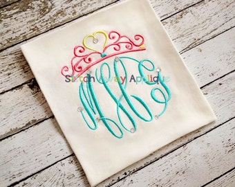 Fancy Princess Crown Embroidery Design