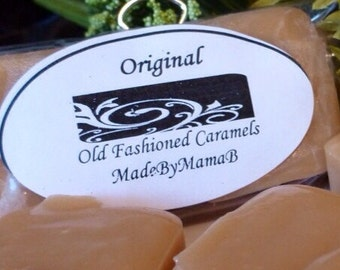 Caramels Variety ~ Box of 32 extra creamy, old fashioned, homemade caramels -  six indulgent flavors
