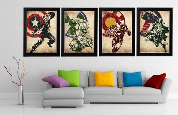 Minimalist Classroom Uk ~ Avengers minimalist poster set captain america hulk iron