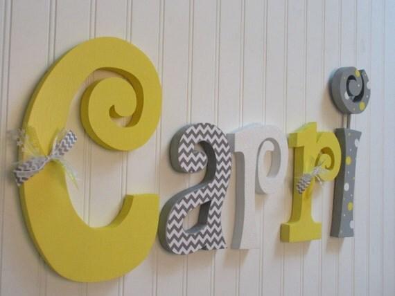 Nursery Decor Nursery Letters Nursery Wall Hanging Letters