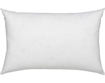 12x24 Rectangle Pillow Insert, Lumbar Pillow, Inside Pillow, Completely Full and Firm, not empty or loose.