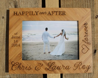 Personalized Picture Frame, Custom Picture Frame, Wedding Personalized Picture Frame, Wedding Custom Picture Frame --7110