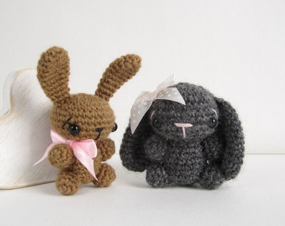 Amigurumi Bunny Ears : Pattern tiny amigurumi bunny with straight or by kristitullus