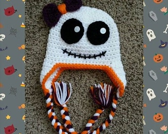 Crochet Ghoul Beanie--Sizes Newborn-Extra Large Adult