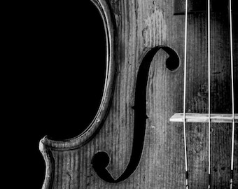 Violin Photography, F hole detail, Music