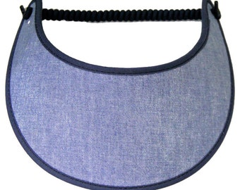 CHAMBRAY. Trimmed Foam sun visor.