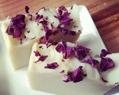 Handmade Organic soap {ROSE PETAL & WATER}Face+Body Soap~W/ Jojoba, Rosehip,gift,mom,mother,dad,father,baby,Wedding,bridal,favor,him,her,men