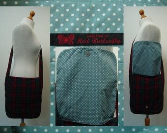Red and Green Tartan / Plaid Messenger Bag