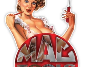 """MAC tools Made in USA gorgeous woman sticker decal 4"""" x 5"""""""
