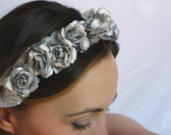 silvered Flower crown