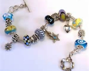 Charm Bracelet- Build your own, pick your color and style, we do the rest! Personalize how you like! Tandora item#TD2016CB