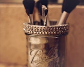Mason Jar Cosmetic Brush Holder