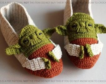 PDF PATTERN -Yoda - Star Wars Slippers