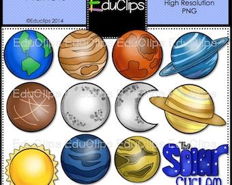 Planets Clip Art Bundle