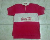 Vintage Coca-Cola 90s Polo Rugby Shirt