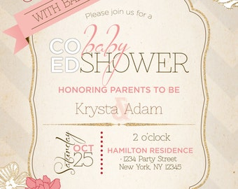 Co-ed (Optional) Fall baby shower invitation