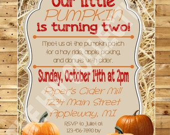 Hay Ride, Pumpkin Patch, Apple Picking and Cider Mill Party - Printable/Digital
