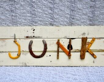 Alphabet Art. Assemblage Letters. Alphabet Assemblage - Alphabet Sign - Name Sign - Typography - Custom Name - Wedding  - Alphabet