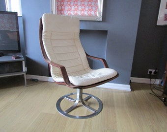 A G mobel Vintage swivel chair in the style of Ekstrom or Mathsson pair available