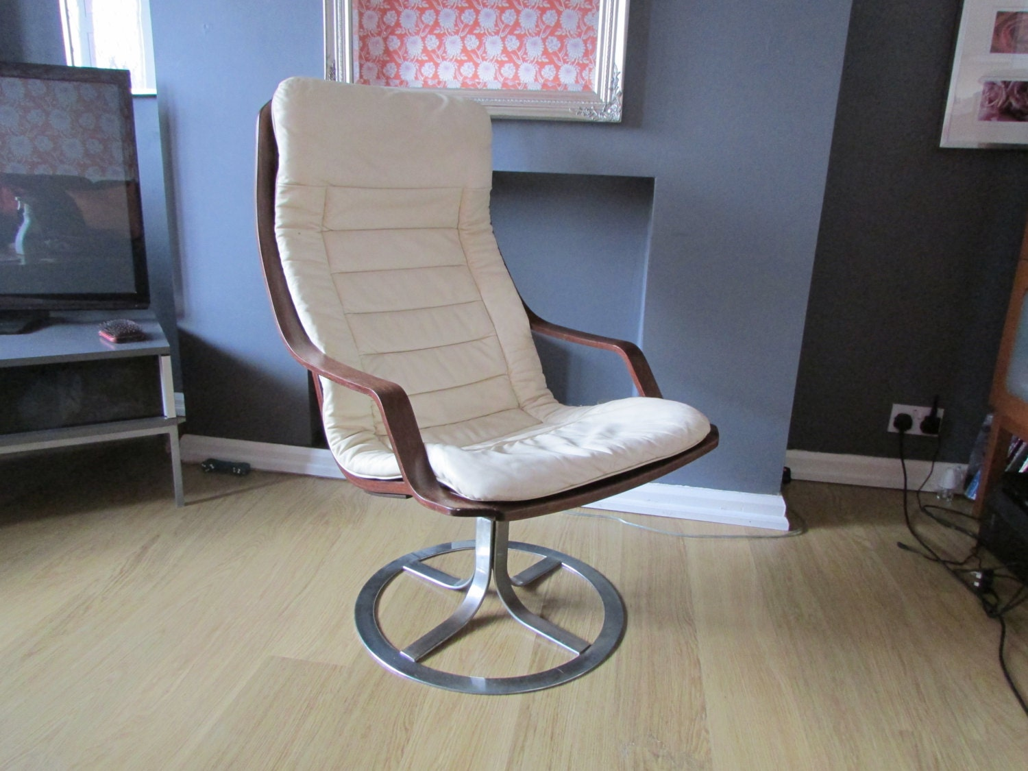 a g mobel vintage swivel chair in the style of ekstrom or