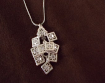 Vintage Silver and CZ Necklace