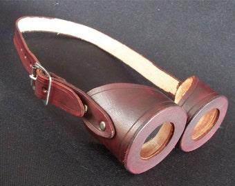 handmade steampunk leather goggle