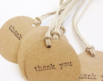KRAFT THANK YOU Favor Gift Tags (10ct)