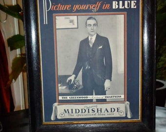 RARE Antique Display Advertising Middishade Suits circa 1920's – 1930's