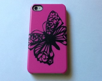 Butterfly Vinyl Cell Phone Decal
