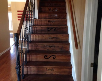 Inspirational Stair Vinyl Decals