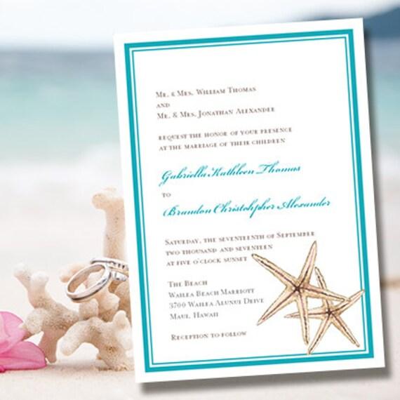 Printable Wedding Invitation Template Beach