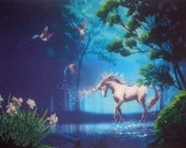 Unicorn in the Water_Bead Emroidery Picture
