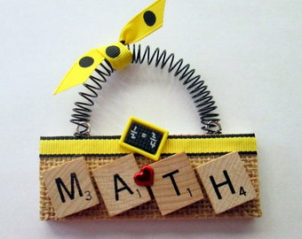Math Scrabble Tile Ornament