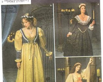 Simplicity 8192 Misses' Medieval Costume Pattern, 10-14
