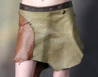 Tuor Tartan - Deer Skin Multi Color Leather Skirt - Deerskin Elven Elf Garment