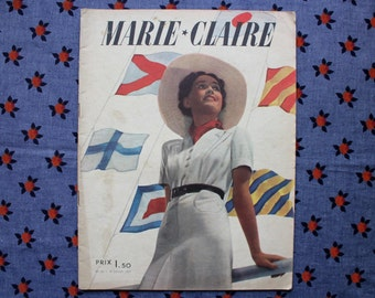 Vintage French magazine MARIE CLAIRE No.22 of 30 july 1937 - Fashion - MODE - 44 pages - Original and complete !