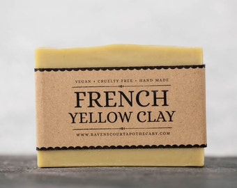 French Yellow Clay Soap | Unscented Vegan Soap