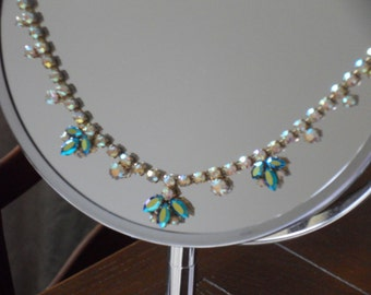 1950's Sparkly Aurora Borealis Necklace