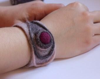 felted cuff bracelet