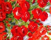 Rose Flowered Handkerchief