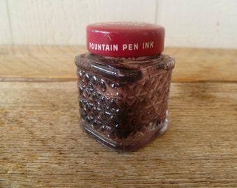 Vintage Sanford's Penit Glass Ink Bottle Jug
