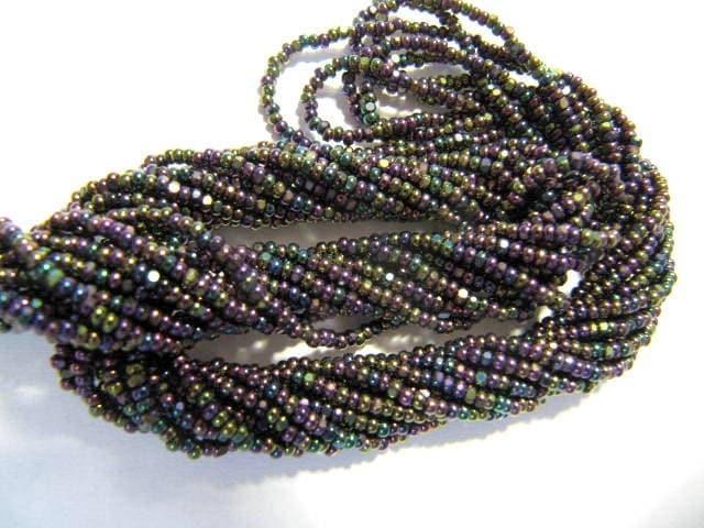 Cut Beads, 13/0, Charlottes, Purple Iris, Glass Beads, Preciosa, One Cut, Seed Beads, Extra Sparkle Beads