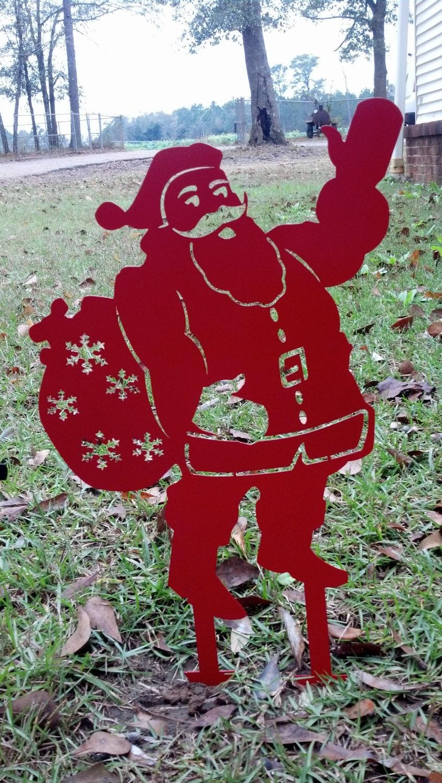 Santa yard stake