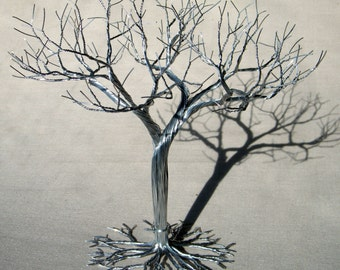 Wedding Cake Topper ,  wire tree sculpture,  earring jewelry tree stand. earring display