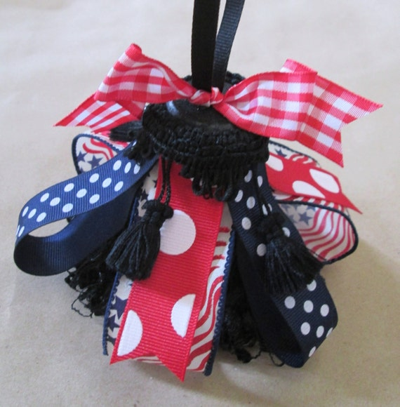 4th of July Party Decor, Stars and Stripes Decorative Holiday Tassel, Americana Decor